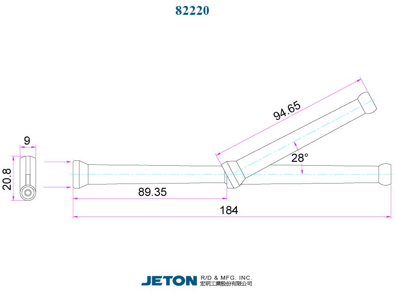 """JETON 1//4/"""" Circle Flow Nozzle Kit 62423 Flex Coolant Hose BLACK"""