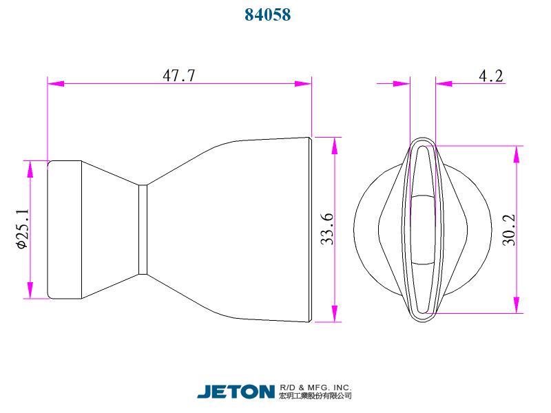 "JETON 2-1//2/"" Flare Nozzle 84072 Flex Coolant Hose pack of 20"