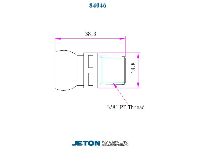 """JETON 1//2/"""" PT Connector 84045 Flex Coolant Hose pack of 4"""