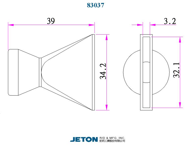 """JETON 3//8/"""" Connection Valve 83742 Flex Coolant Hose pack of 10"""