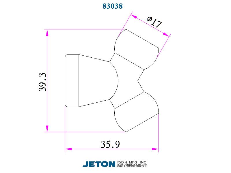 "83037 Flex Coolant Hose pack of 2 JETON 1-1//4/"" Flare Nozzle"