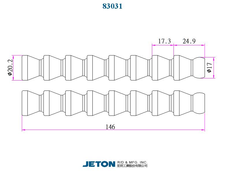 """pack of 50 83046 Flex Coolant Hose JETON 1//4/"""" PT Connector"""